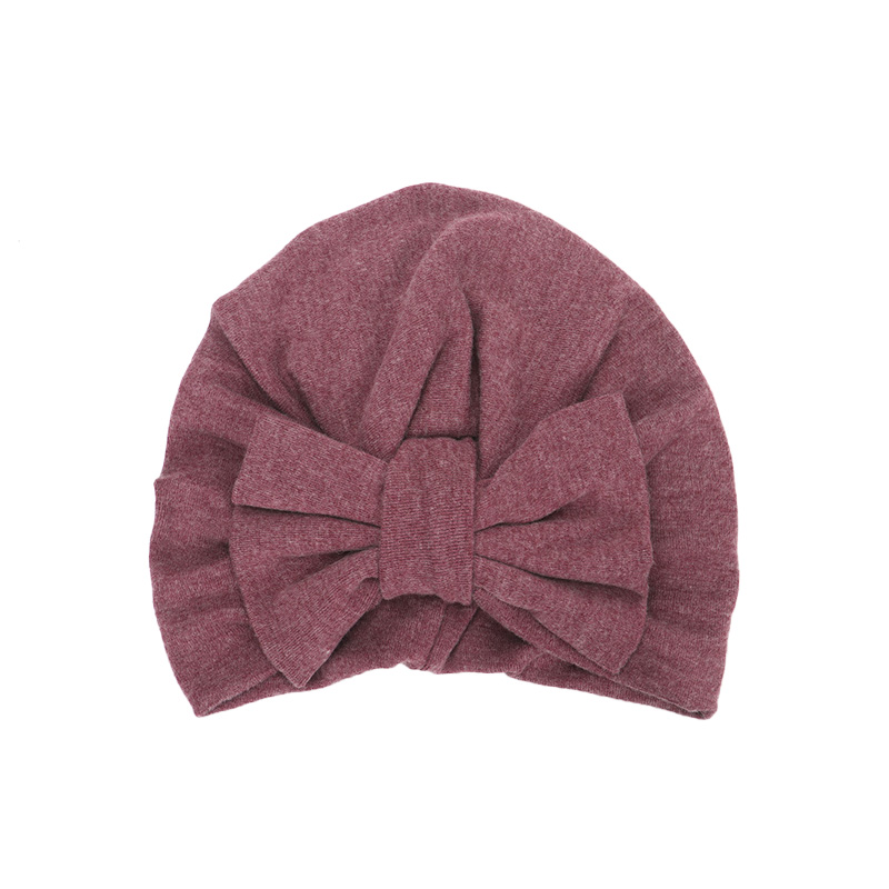 0ffd55a9f US $3.44 25% OFF|New Winter Baby Hat for Girls Big Bow Autumn Turban Baby  Cap Photography Props Infant Beanie Baby Girl Hat Accessories 11 Colors-in  ...