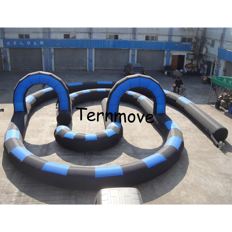 210D oxford go kart inflatable circuit racing track for sporting events, inflatable race track Kids play outdoor sports games