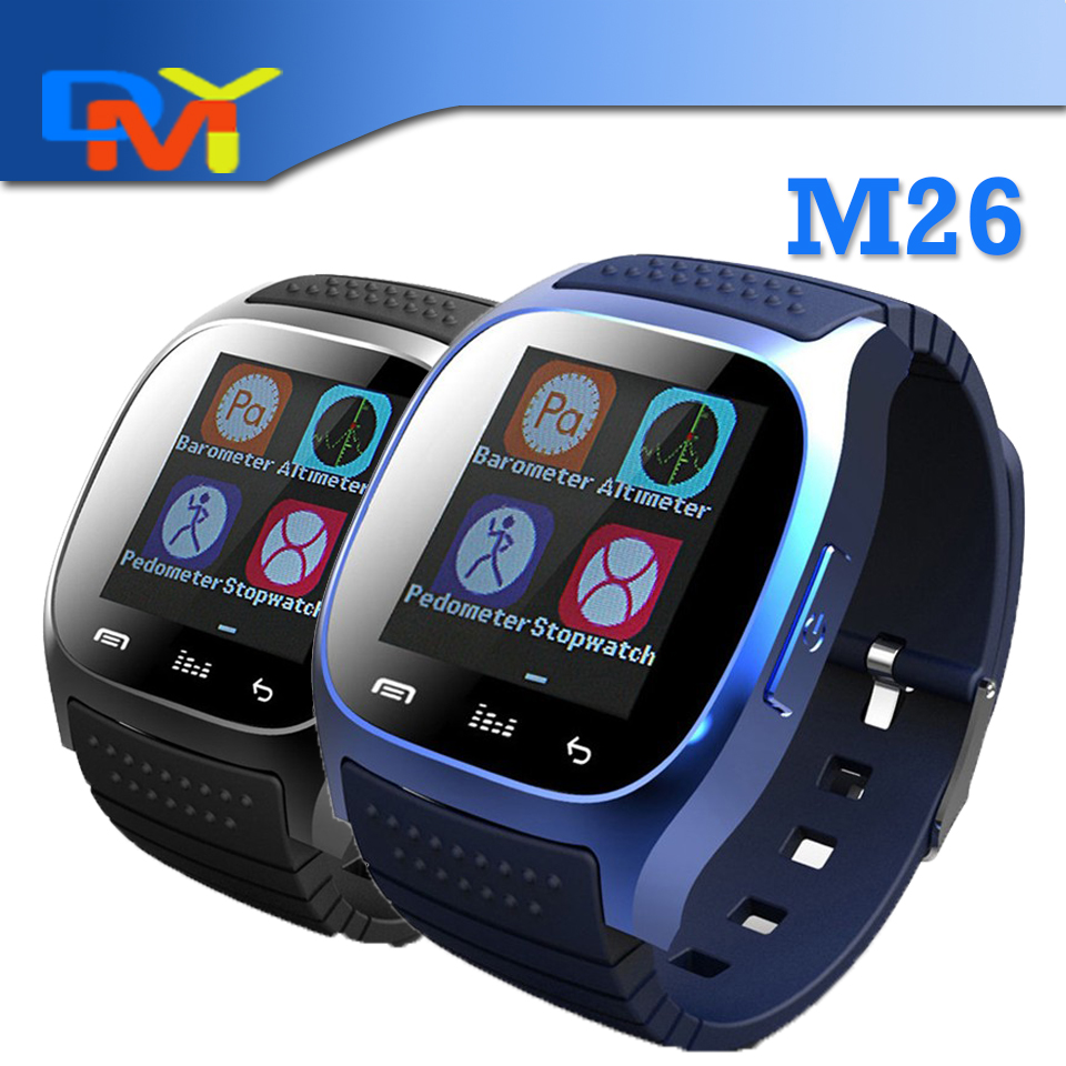 font b Smartwatch b font 2016 Bluetooth Smart Watch M26 with LED Display Dial Alarm