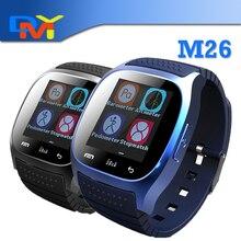 Smartwatch 2016 Bluetooth Smart Uhr M26 mit Led-anzeige/Dial/Alarm/Musik-player/Schrittzähler für smartphone Android IOS