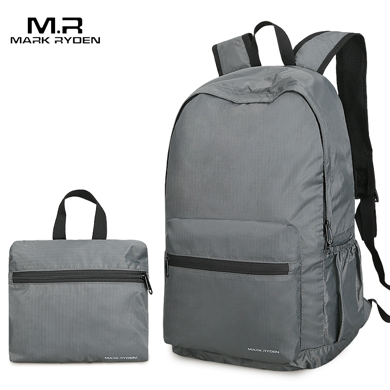 Mark Ryden Folding Backpack Men 14 Inch Nylon Men Backpack Lightweight Bag Water Repllent Travel Storage Bags flamehorse k81 folding nylon storage bag