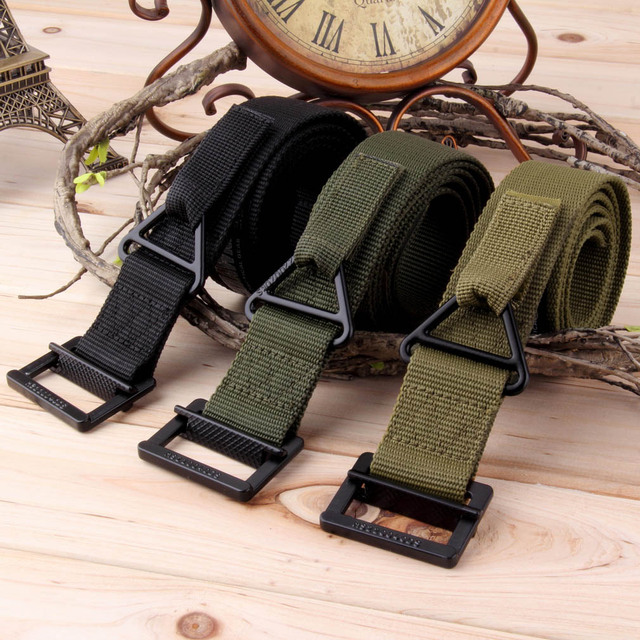 New Men Adjustable Survival Tactical Belt Emergency Rescue Rigger Militaria Military Belts