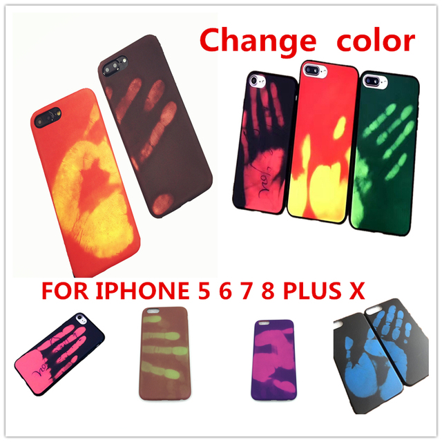 Temperature Sensing Change Color Phone Cover Case For