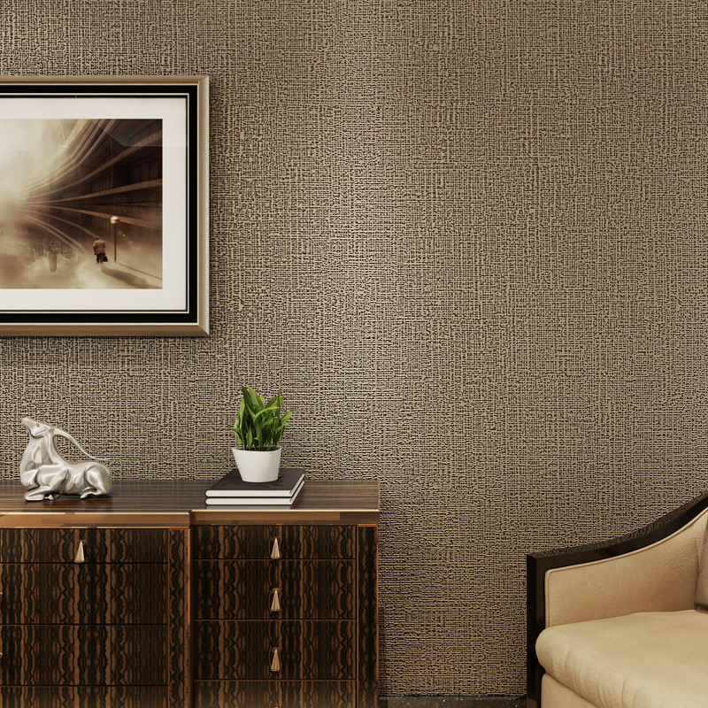 US $21 16 20% OFF|Color Stripe Wallpaper Chinese Imitation Linen Plain  Straw Simple Modern Bedroom Project Wallpaper-in Wallpapers from Home