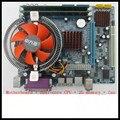 Frete grátis Motherboard + Pentium processador dual-core + 2G de memória + ventilador de pacotes, desktop de jogos em casa