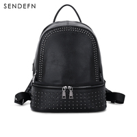 Sendefn Fashion Women Backpack Genuine Leather Shoulder Bag Brand Bagpack Waterproof Backpack High Quality Backpack For
