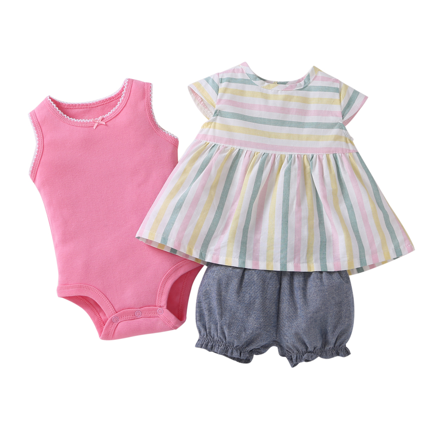 Cotton Baby Girl Clothes Polka Dot Pattern Baby Clothing