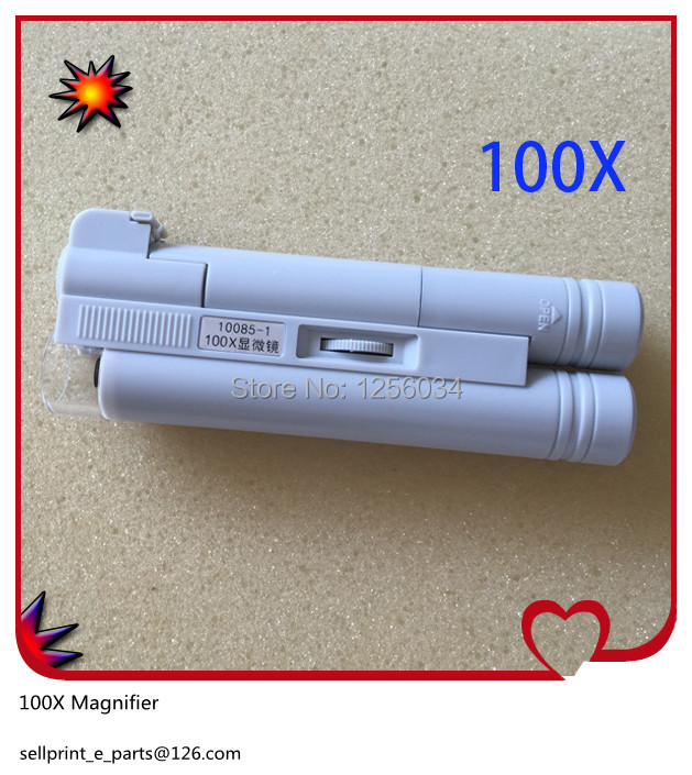 1 piece LED 100X Magnifier Microscope Loupe, 100 X Magnifier for printing machine