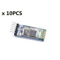 10sets Lot HC05 JY MCU Anti Reverse Integrated Bluetooth Serial Pass Through Module HC 05 Master
