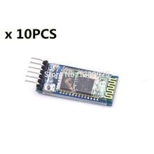 10 set/lote HC05 JY-MCU anti-reverso, módulo de paso a través de serie Bluetooth integrado, HC-05 maestro-esclavo 6pin
