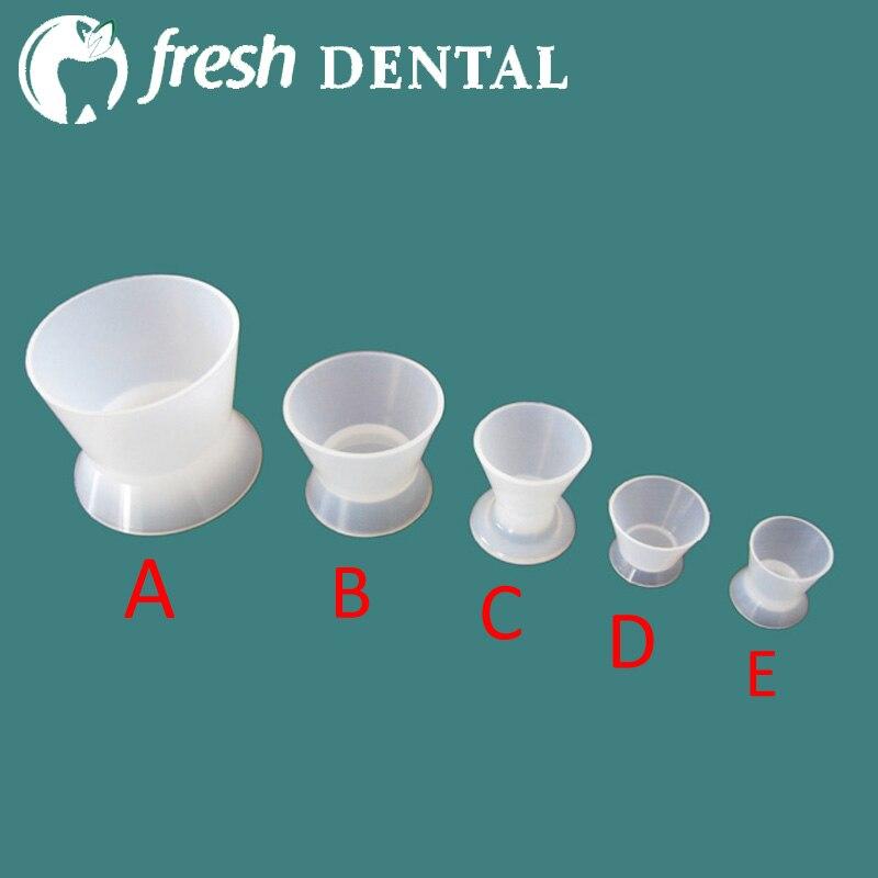 10PCS Dentální flexibilní silikonová pryžová míchací miska Míchací miska dentální samozhášecí silikonový kaučuk Dappen Dish Bowls SL523