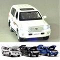 1: 32 Land Cruiser SUV Aleación Modelo de Coche Juguetes Tire Hacia Atrás de La Luz y La Música Juguetes Para Niños Niños Funde Regalo Colecciones vehículos Juguetes