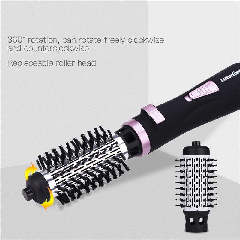 Image 2 - 220 240V Multifunctional Automatic Rotational Hair Dryer Brush Hairdryer Comb Brush Hair Curling Comb Electric  Hair Blower-in Hair Dryers from Home Appliances