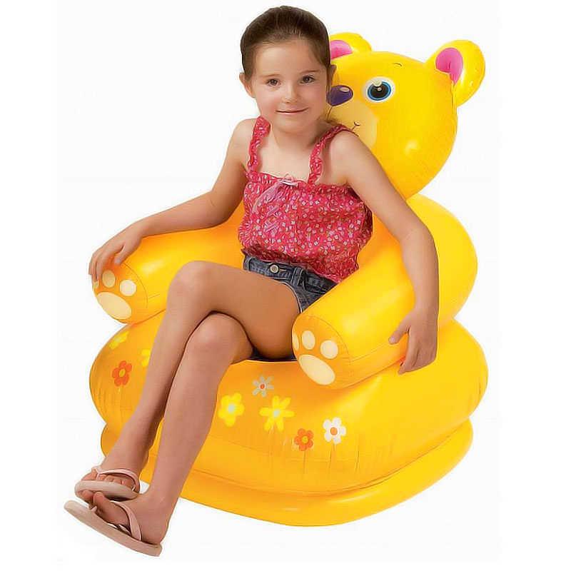 Для детей от 3 до 8 лет милые Портативный мультфильм животных Стиль стулья для детей прекрасный надувной диван детский ПВХ стулья детские сиденья A010