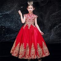 Элегантное Длинное платье для девочек красного и черного цвета на свадьбу, день рождения, 2019 год, хорошее качество, модное праздничное плать