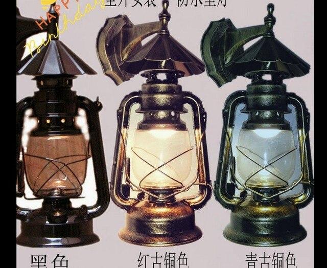 Lanterna Illuminazione : Singolo testa di modo retro lanterna lampada da parete del salone