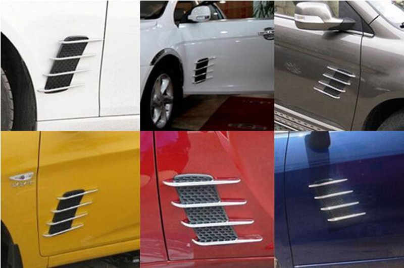 2ピースカーステッカーシャークギルス出口用vwポロティグアンゴルフ7 4 6パサートb6 b5 b7トゥーランt5アクセサリー
