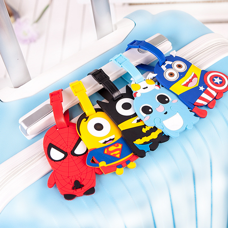 Travel Accessories Cute Cartoon Luggage Tag Silica Gel Suitcase ID Address Holder Baggage Boarding Tags Portable Label