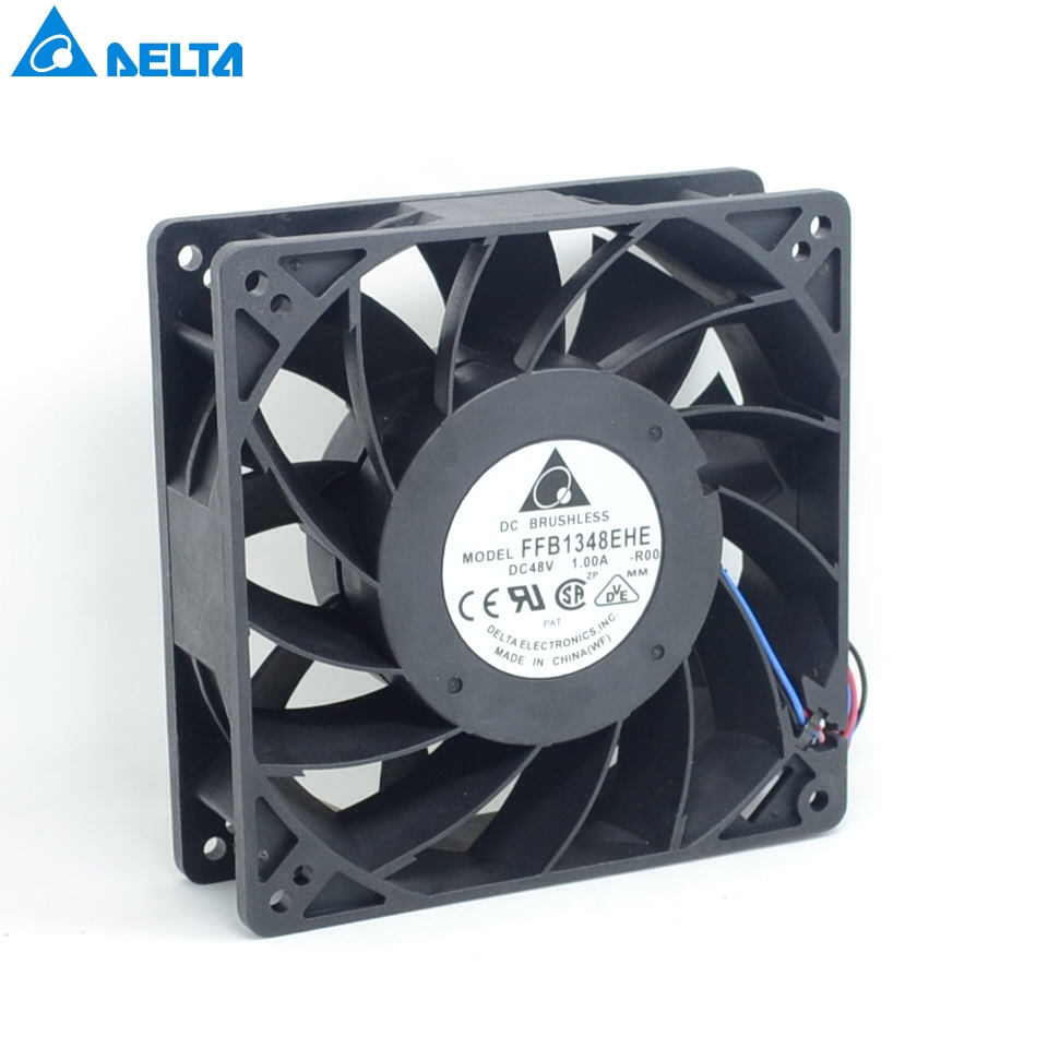 High quality 48V 1.0A FFB1348EHE-ROO 12038 large air flow frequency converter cooling fan Delta delta 12038 fhb1248dhe 12cm 120mm dc 48v 1 54a inverter fan violence strong wind cooling fan