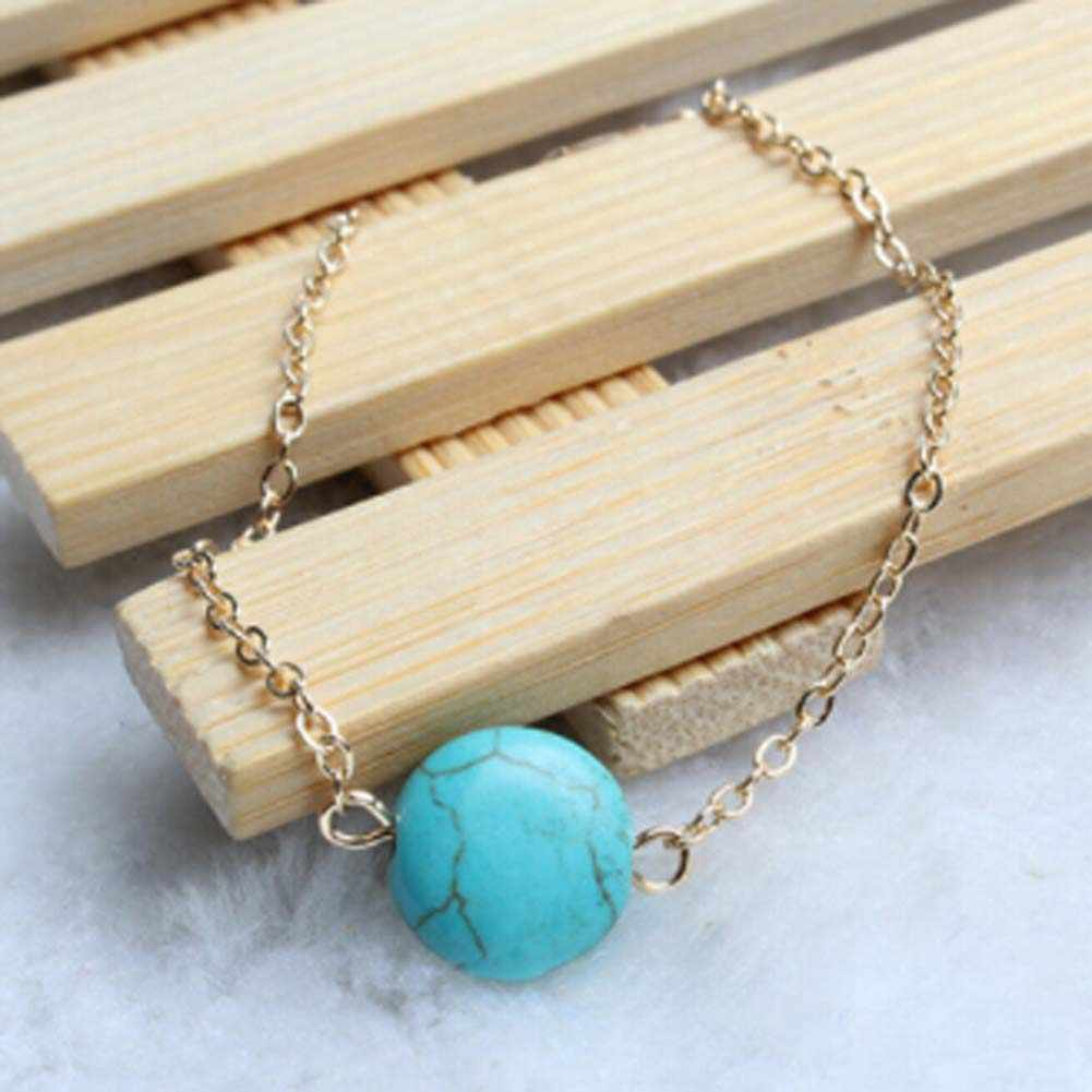 Natural Fall And Winter New Blue Bracelet Simple Precious Bracelet Elegant Round Girl Jewelery