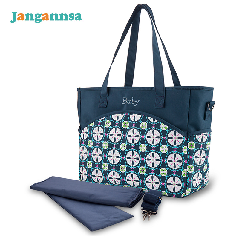 Flower Brand Diaper Bag Micro Fiber Mommy Baby Bags For Stroller Large Capacity Maternity Nappy Bag With Changing Mat Baby Care