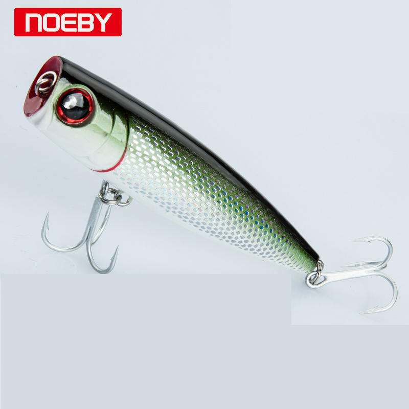Noeby 2pcs/Lot  Popper Fishing Lure 105mm/24g  Sea Fishing Tackle Hard Lure Bait Jig Japan Wobblers Lure Treble Hooks wldslure 1pc 54g minnow sea fishing crankbait bass hard bait tuna lures wobbler trolling lure treble hook