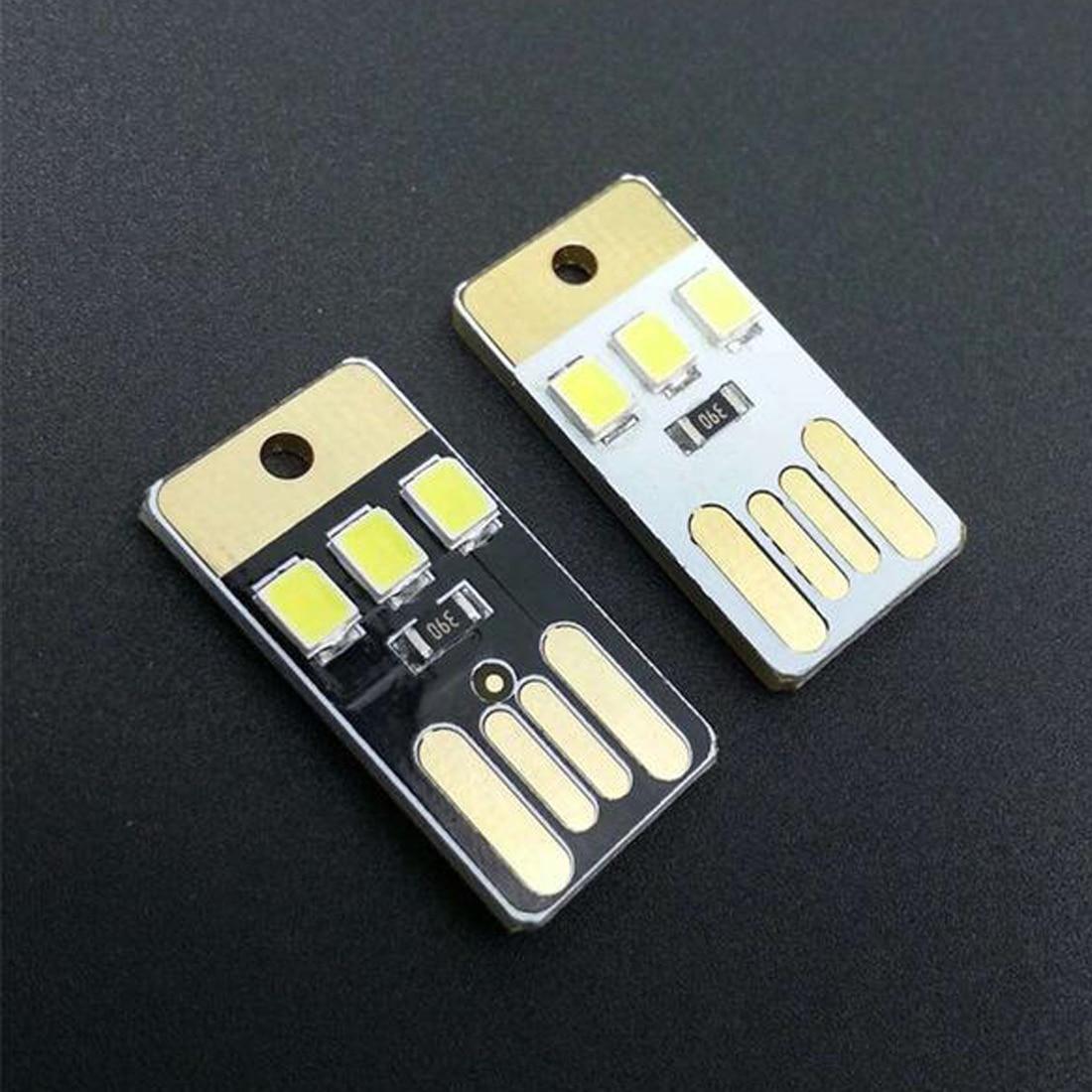 Mini LED Night Light Pocket Card Lamp Led Keychain Lamp Portable USB Power