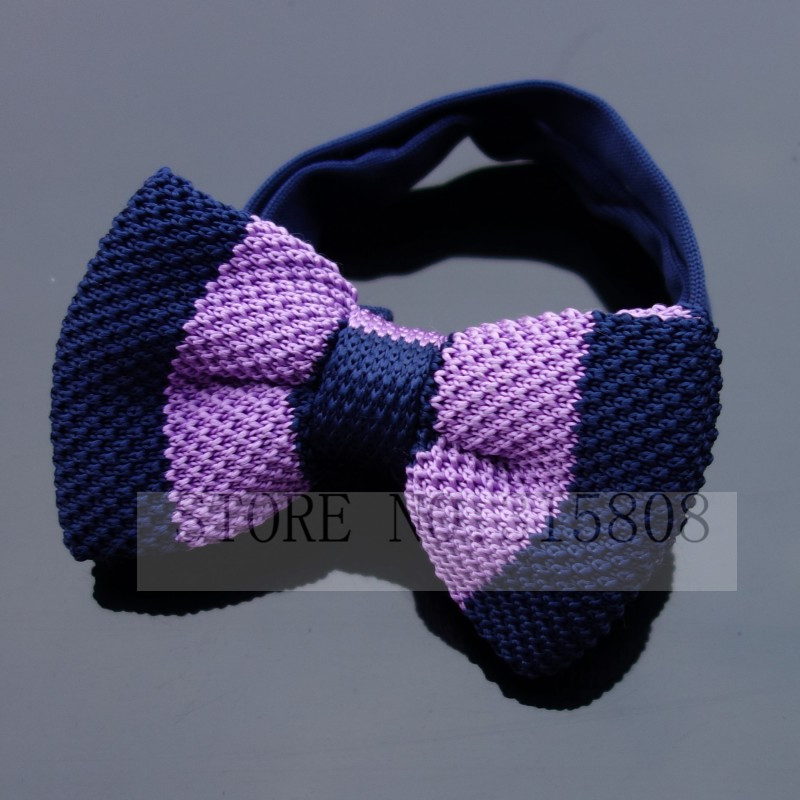 Men Neck Ties Tuxedo Purple Navy Knitted Bowtie Custom Lable Bow Tie 60 Color Pre-Tied Adjustable Neckwear Accessaries