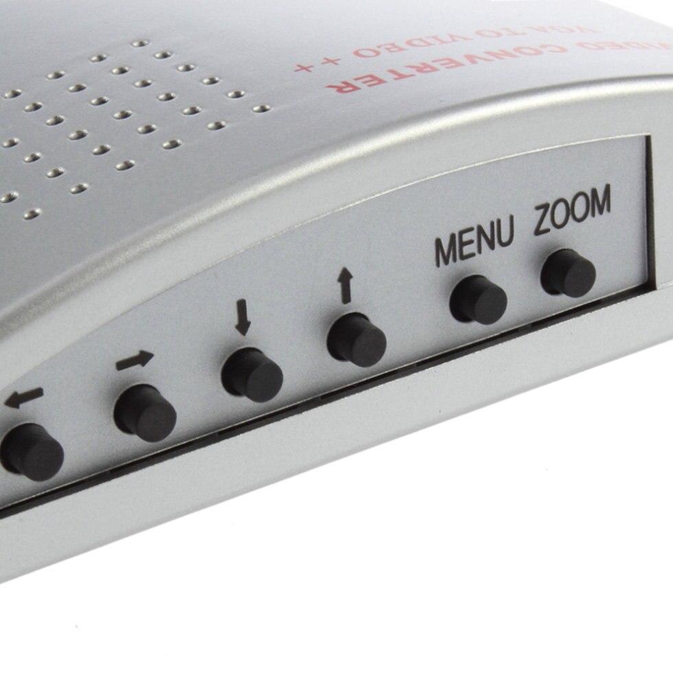 10 pcs PC Portable VGA pour Moniteur TV s-vidéo Signal Adaptateur Convertisseur Switch Box