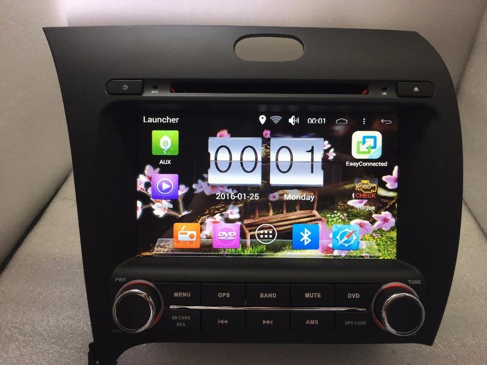 8 pouces KIA K3 FORTE CERATO 2013-2015 android 6.0 quad core 1024*600 DVD Lecteur 16 gb caméra carte 3g/wifi radio gps livraison gratuite