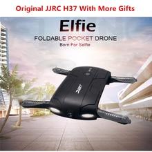 JJRC H37 Elfie Plegable Mini RC Drone Con Cámara FPV transmisión RC Quadcopter Drone Helicóptero de Control WiFi VS JJRC H31 H36