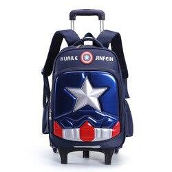 Съемный детей школьные ранцы с 2/3 колёса для обувь мальчиков девочек рюкзак для тележки дети колесных сумка Bookbag Дорожная чемодан Mochila