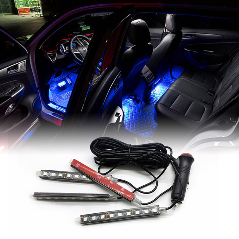1set car LED light interior Decoration lighting For Toyota Corolla Camry Prado Prius Highlander Crown RAV4 Car styling universal pu leather car seat covers for toyota corolla camry rav4 auris prius yalis avensis suv auto accessories car sticks