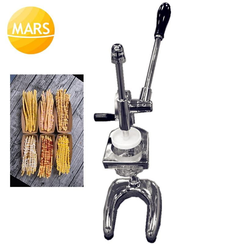 Japanese 20cm 30cm Super Long Fries Chips Maker Dispenser Potatoes Fries Presser Machine Longest Potato Forming