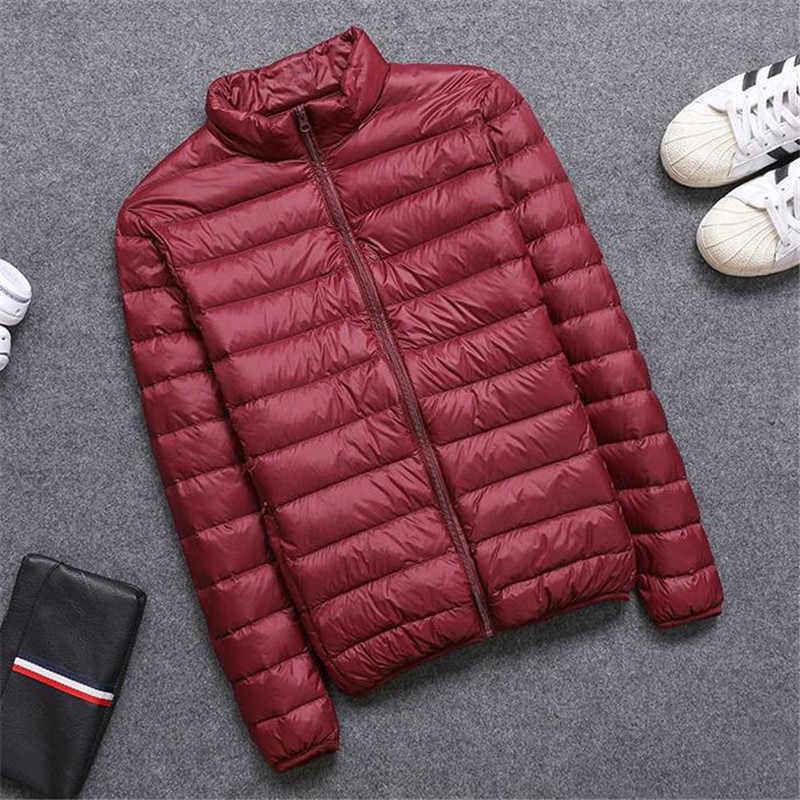 Мужская Ультра легкая пуховая куртка новая осенне-зимняя легкая парка на утином пуху верхняя одежда мужская теплая тонкая короткая куртка SF1505