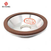 """5""""inch Resin Bonded Flaring  Diamond Grinding Cup Wheel bowl-shape 120/150/180 Grit 75% Rotary Abrasive Tool 125x32x10x3mm"""