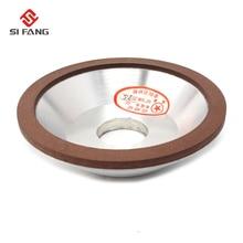 цена на 5inch Resin Bonded Flaring  Diamond Grinding Cup Wheel bowl-shape 120/150/180 Grit 75% Rotary Abrasive Tool 125x32x10x3mm