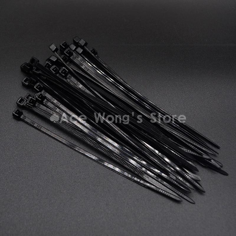 100Pcs/pack 3*100mm width 2.5mm black Factory Standard Self-locking Plastic Nylon Cable Ties,Wire Zip Tie