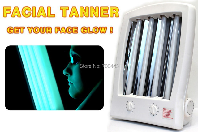 NEW Facial Tanning Sun Solarium Lamp UV Goggles FACE TANNER LOVE Bronzer  Skin Everyone Think You