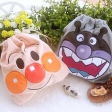 cool 1PCS Anpanman baikinman Cartoon Drawstring Bags Cute Plush storage handbags makeup bag Coin Bundle Pocket Purse NEW