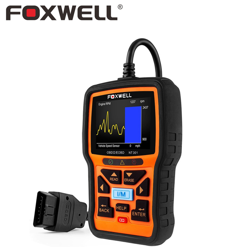 FOXWELL NT301 Universal Car OBD2 Engine Scanner Live Data Codes Auto OBD 2 OBDII EOBD Error Reader Scan Tool Automotive Scaner free shippinng diy om580 obd scanner automotive obd2 eobd car code reader for engine abs dsc srs fault diagnostic tool