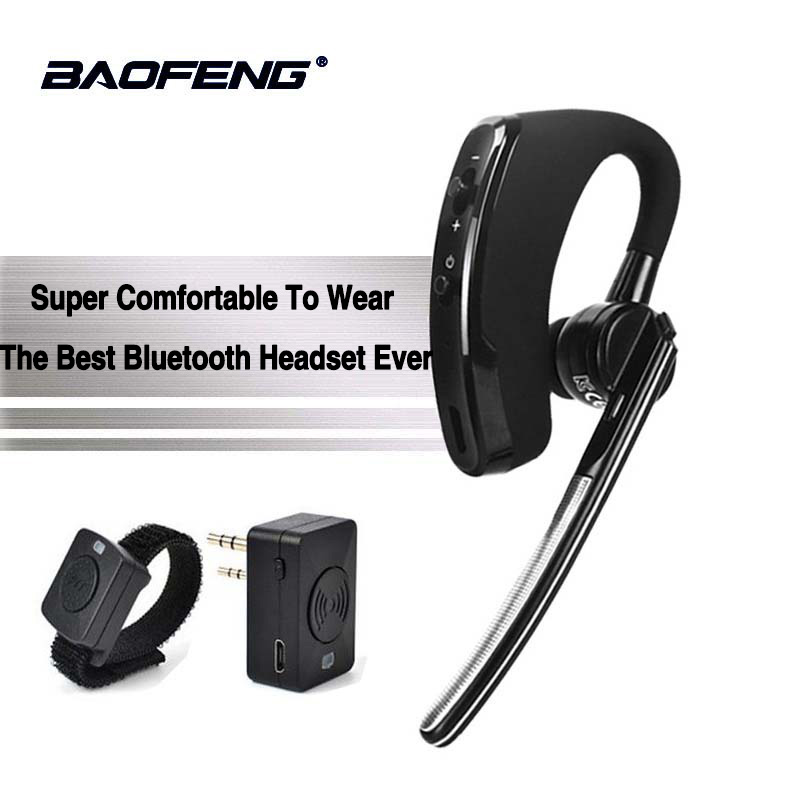 Walkie Talkie senza fili Bluetooth Auricolare auricolare Per Motorola Kenwood Cuffie Baofeng UV-5R BF-888S Dmr del Trasduttore Auricolare Accessori