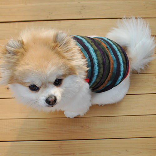 Small Dog Vest Pet Puppy Clothes Funny Cotton Costumes Cat Cute Stripe T Shirt