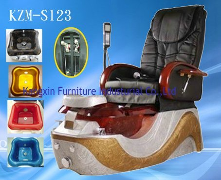 China Manuafacturer Superior Leather Salon Pedicure SPA Massage Chair KZM-S123 with Plug110V-220V