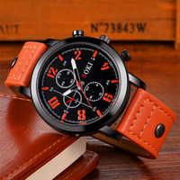 Relojes SOKI para Hombre Reloj de cuarzo de cuero de marca de lujo 2018 Reloj de pulsera deportivo para Hombre Reloj Masculino