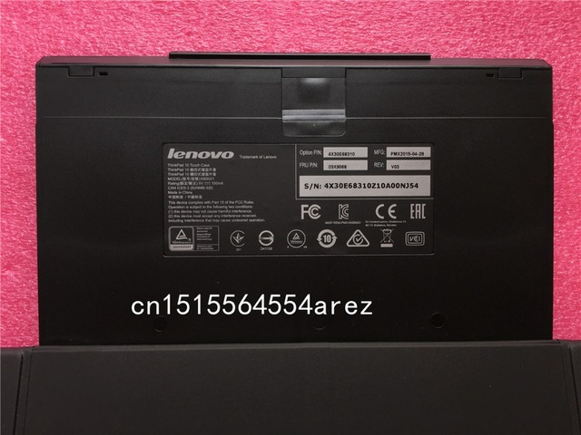 New Original Lenovo ThinkPad 10 Tablet Touch etymon Keyboard Leather Case US Japanese French Bulgarian Hungarian Finnish 03X9046 4