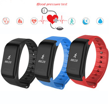 Горячие Фитнес Tracker браслет Heart Rate Monitores Smart Band F1 SmartBand Presión arterial с Шагомер Браслет IP65 водонепроницаемый