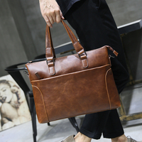 Laptop Brown Handbag Suitable For 13 Inch Laptop Stylish And Easy To Carry Men Preferred Computer