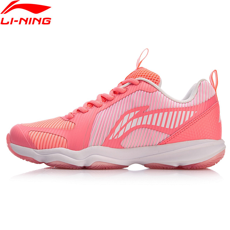 Li Ning Women RANGER TD 3 Badminton Training Shoes Stable Support Wearable Sneakers LiNing Sport Shoes