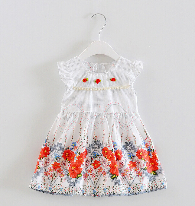 Girl Princess Dress 2017 New Fashion Brand Children Girls Dress Hot Sale Baby Kids Clothing Set free shipping